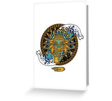 Multicultural Golden buddha Greeting Card