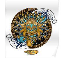 Multicultural Golden buddha Poster