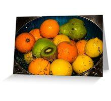 Fruit Salad Splash Greeting Card