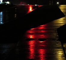 Sidewalk in the Rain by DevinStar