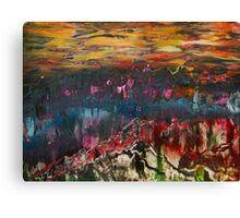 Clouds drifting over landscape Canvas Print