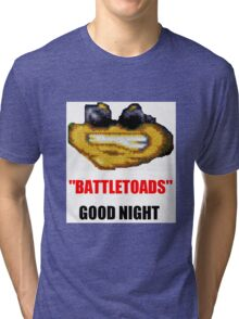 hilarious laughing colours battletoads parody Tri-blend T-Shirt