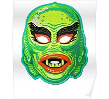 Vintage Creature From The Black Lagoon Mask Poster
