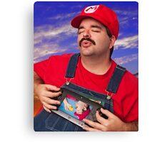 SexyMario - Playing the WiiU Canvas Print