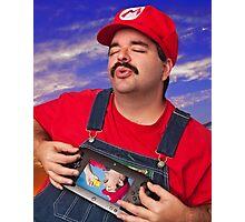 SexyMario - Playing the WiiU Photographic Print