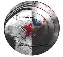 I'm with you... Till the end of the line  by bethsemporium