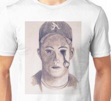 Eye on You Baseball Player Pencil Drawing Portrait Unisex T-Shirt