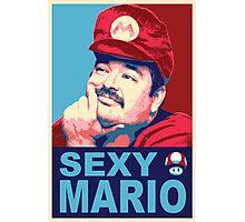 SexyMario - Hope / Obey Homage Photographic Print