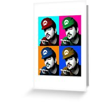 SexyMario - Warhol Homage Greeting Card