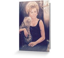 Clarice Pastel Chalk Portrait Drawing Greeting Card
