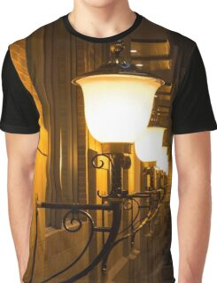 Perspective Study - Elegant Glass Brass and Iron Wall Sconces Right Graphic T-Shirt