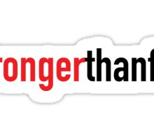 The #Strongerthanfear Campaign: Official Logo Gear Sticker