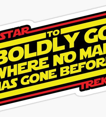 To Boldly Go Sticker