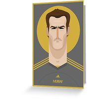 Andy Murray Tennis Illustration Greeting Card