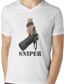 Sniping - photographer-style! Mens V-Neck T-Shirt