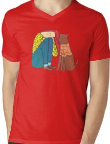 Best Friends Mens V-Neck T-Shirt