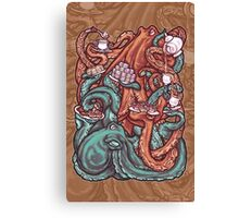 Octopus Tea Party Canvas Print