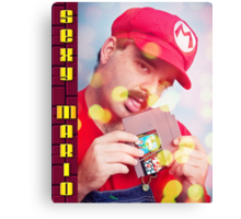 SexyMario - Blowing the Cartridge Canvas Print