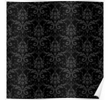 Floral Pattern - Dark Stylish Design Poster