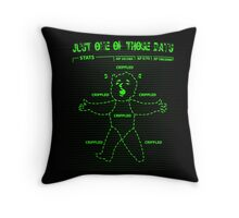 Just one of Those Days Fallout Style! Throw Pillow