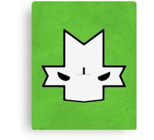 Crasher Knight Face (Green) Canvas Print