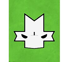 Crasher Knight Face (Green) Photographic Print