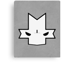 Crasher Knight Face (Grey) Canvas Print