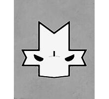 Crasher Knight Face (Grey) Photographic Print