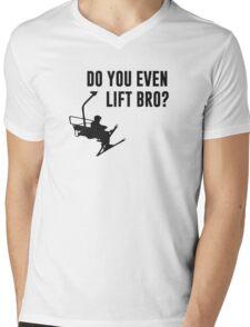 Bro, Do You Even Ski Lift? Mens V-Neck T-Shirt