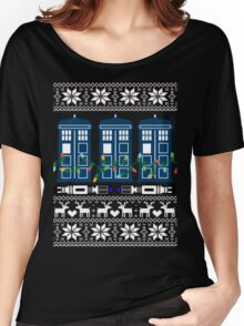 Doctor who christmas ugly sweater version Women's Relaxed Fit T-Shirt