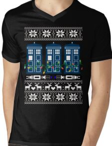 Doctor who christmas ugly sweater version Mens V-Neck T-Shirt