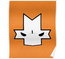 Crasher Knight Face (Orange) Poster