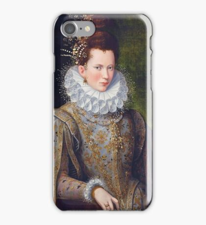 Portrait of Court Lady with Dog by Lavinia Fontana iPhone Case/Skin