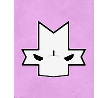 Crasher Knight Face (Pink) Photographic Print