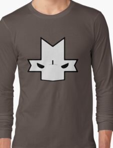 Crasher Knight Face (Green) Long Sleeve T-Shirt