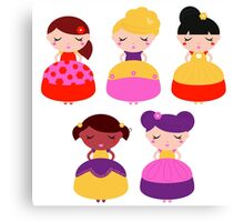 For all princess Lovers : Princess with various Hairstyles Canvas Print