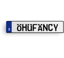 Euro Plate - OHUFANCY Canvas Print