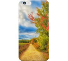 Step back into fall iPhone Case/Skin