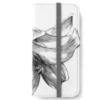 White Lily - Ink Drawing iPhone Wallet/Case/Skin
