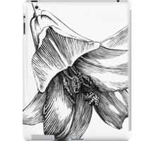 White Lily - Ink Drawing iPad Case/Skin