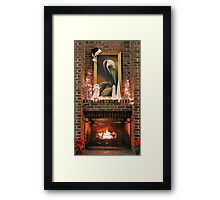 Fireplace Christmas Framed Print