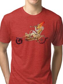 Steampunk Cat Motorcycle Tri-blend T-Shirt
