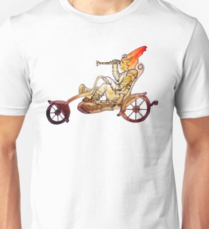 Steampunk Cat Motorcycle Unisex T-Shirt