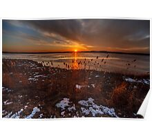 Sun sets on Plum Island Poster