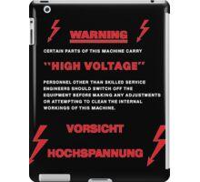 WARNING! HIGH VOLTAGE! VORSICHT! HOCHSPANNUNG! iPad Case/Skin