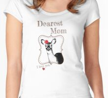 Deer Mom - I love my dear family Women's Fitted Scoop T-Shirt