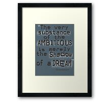 Shakespeare nondual Quote Framed Print