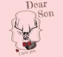 Deer Elder Son - I love my dear family Kids Tee
