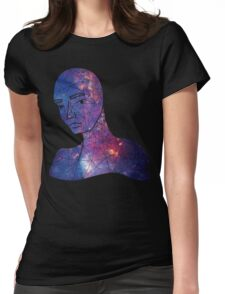 Pondering the Galaxy Center Womens Fitted T-Shirt