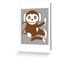 Cute Dead Monkey Greeting Card